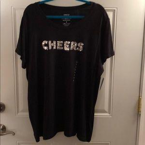 NWT torrid sequin cheers T-shirt